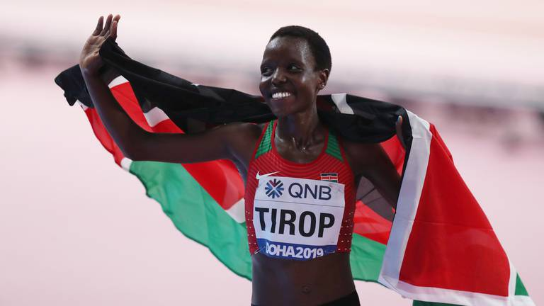 An image that illustrates this article Agnes Tirop: Police arrest husband of Kenyan runner found stabbed to death