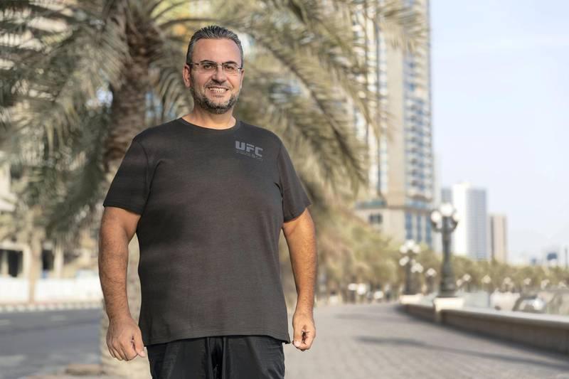 DUBAI, UNITED ARAB EMIRATES. 01 MAY 2018. Mr. Ghazwan Abdulilah Dakak, a Syrian national, who managed to loss 35.5 kilos in a weight loss challenge. (Photo: Antonie Robertson/The National) Journalist: Ruba Haza. Section: National.