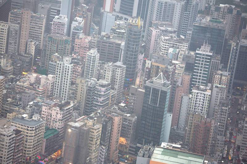 HONG KONG - FEBRUARY 19:  The skyline is packed by blocks of high-rises on February 19, 2013 in Hong Kong. One of the most densely populated countries in the world is Hong Kong, with a population of over 7.1 million inhabitants in an area of 1100 square kilometres.  (Photo by Lam Yik Fei/Getty Images)