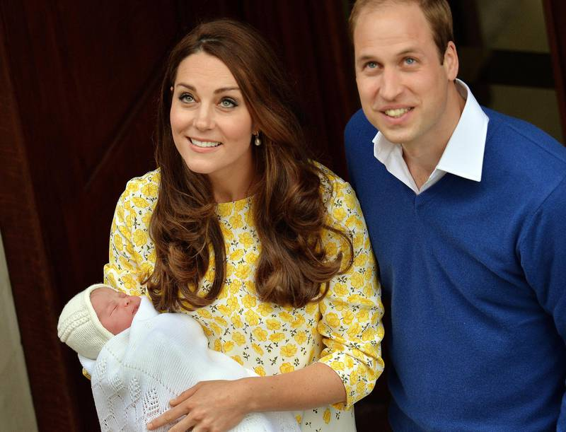 LONDON, ENGLAND - MAY 02:  Catherine, Duchess of Cambridge and Prince William, Duke of Cambridge depart the Lindo Wing with their newborn daughter at St Mary's Hospital on May 2, 2015 in London, England. The Duchess was safely delivered of a daughter at 8:34am this morning, weighing 8lbs 3 oz who will be fourth in line to the throne.  (Photo by John Stillwell - WPA Pool/Getty Images)