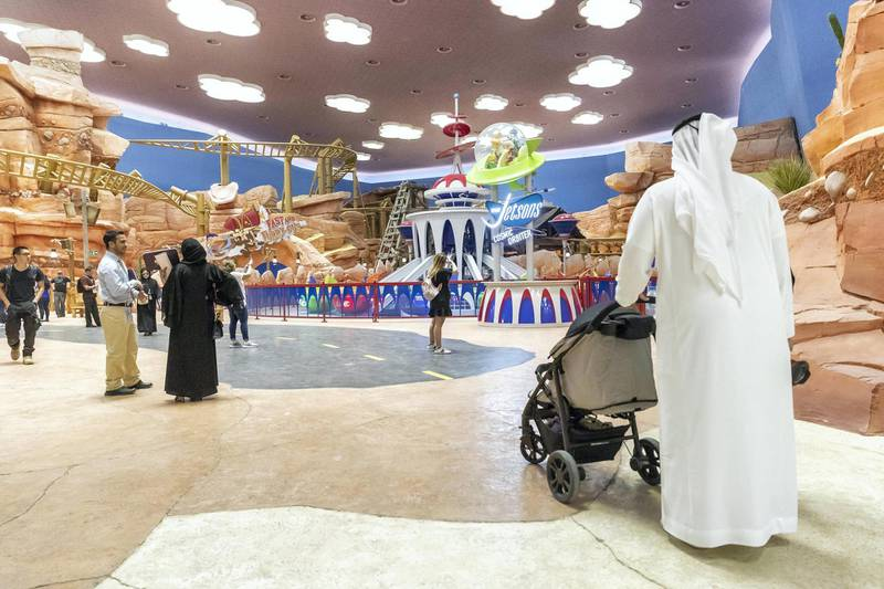 ABU DHABI, UNITED ARAB EMIRATES. 24 JULY 2018. Warner Brother World on Yas Island West. Media tour of the Warner Bros World Abu Dhabi opening. The Dynamite Gulch are showcaseing Looney Tunes characters in the park. (Photo: Antonie Robertson/The National) Journalist: Haneen Dajani. Section: National.