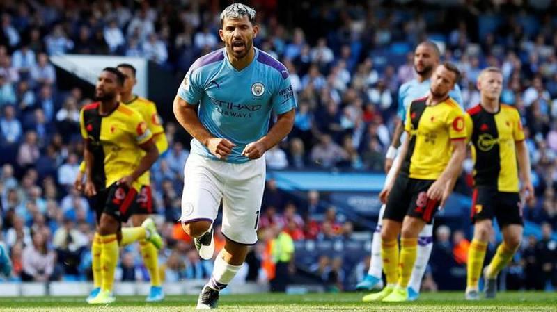 Manchester City striker Sergio Aguero. AFP