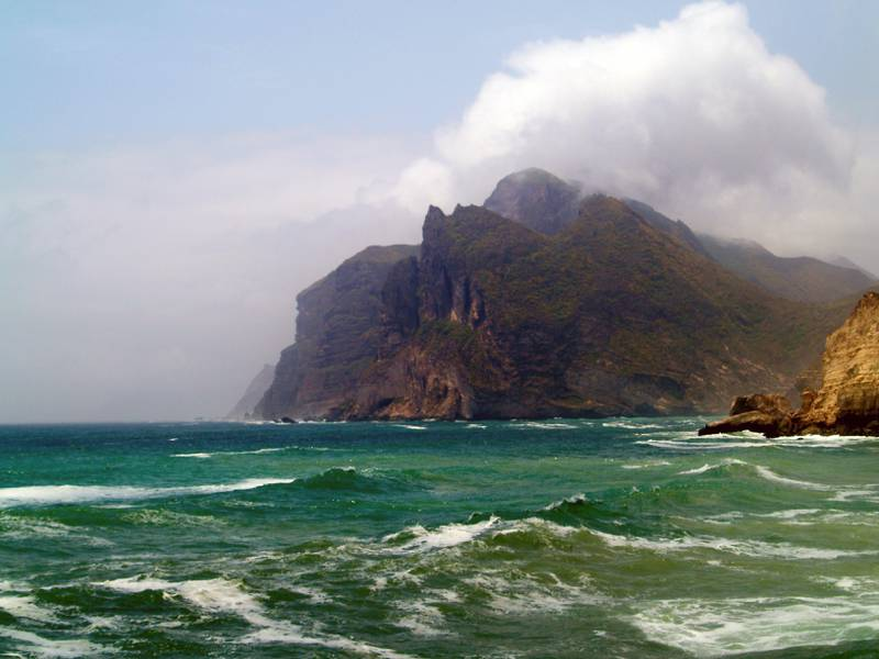 The Salalah coastline is dotted with impressive coves and promontories, with spectacular views such as this one near the Marnif Cave and Blowhole - Paolo Rossetti for The National