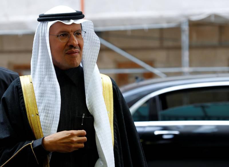 Saudi Arabia's Minister of Energy Prince Abdulaziz bin Salman Al-Saud arrives at the OPEC headquarters in Vienna, Austria December 5, 2019. REUTERS/Leonhard Foeger