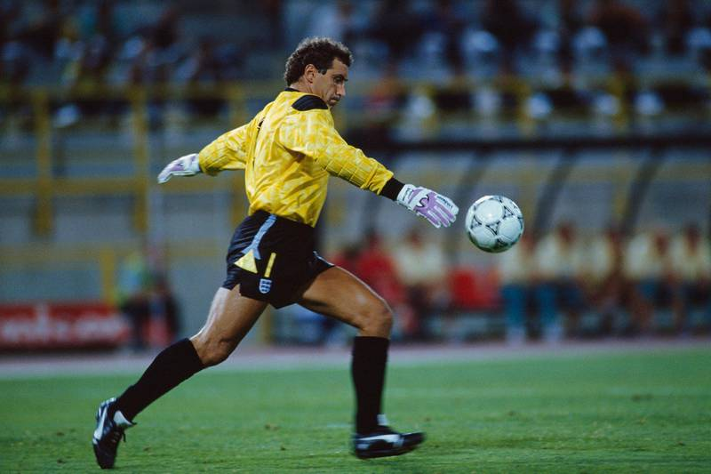 Peter Shilton, goalkeeper for England during the 1990 FIFA World Cup. (Photo by Marc Francotte/TempSport/Corbis via Getty Images)