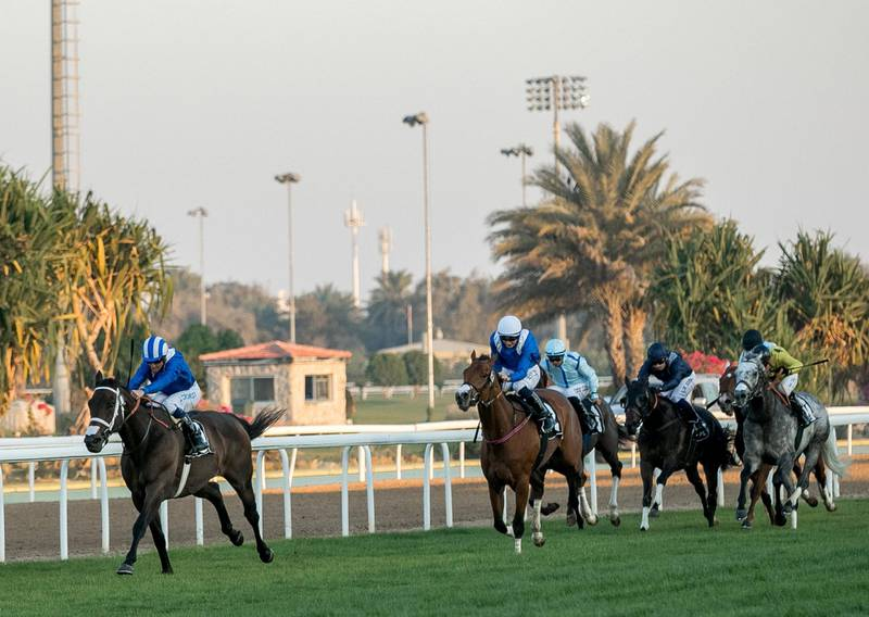 Abu Dhabi, UAE, March 4, 2018.  RACE 4-  HH The President Cup.  Jim Crowley wins the HH The President Cup atop MUNTAZAH and Trainer:  Doug Watson.Victor Besa / The NationalSportsReporter: Amith Passela