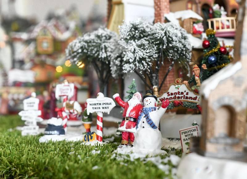 Abu Dhabi, United Arab Emirates - Outstanding setup for Christmas miniatures and figurines. Khushnum Bhandari for The National