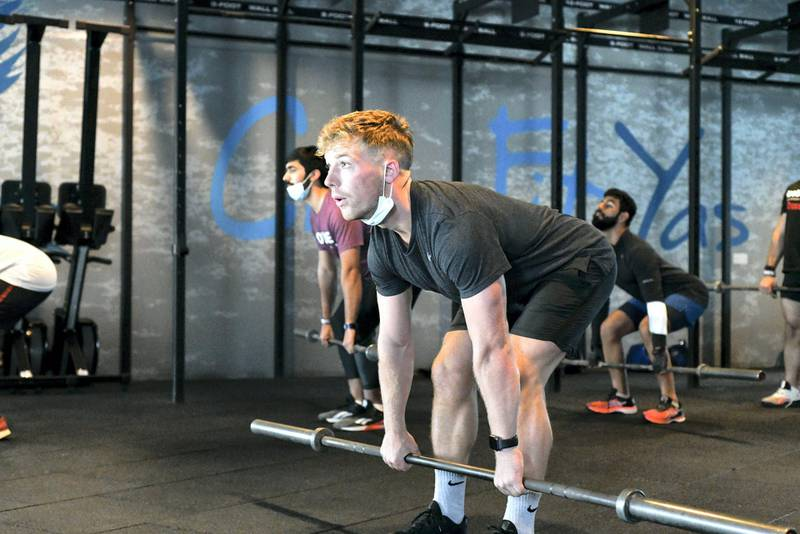 New Covid Restrictions-AD Keith OÕDonell able to workout as the new covid restrictions are implemented at Vogue Fitness, Yas Marina on June 15, 2021. Khushnum Bhandari/ The National Reporter: Haneen Dajani News