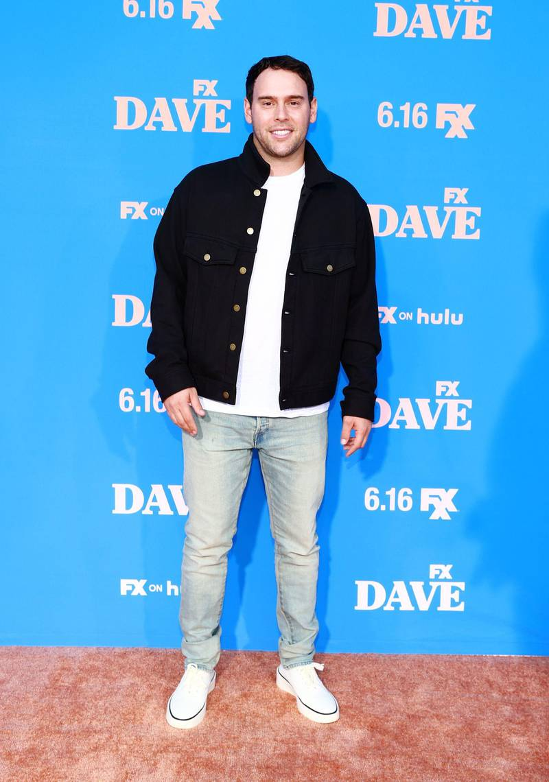 """LOS ANGELES, CALIFORNIA - JUNE 10: Scooter Braun attends FXX, FX and Hulu's Season 2 Red Carpet Premiere Of """"Dave"""" at The Greek Theatre on June 10, 2021 in Los Angeles, California.   Matt Winkelmeyer/Getty Images,/AFP == FOR NEWSPAPERS, INTERNET, TELCOS & TELEVISION USE ONLY =="""