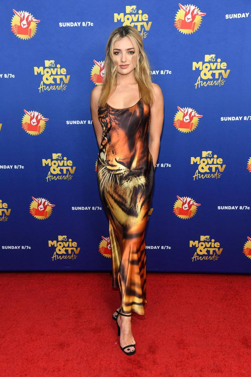 UNSPECIFIED - DECEMBER 6: In this image released on December 6, Peyton List from Cobra Kai attends the 2020 MTV Movie & TV Awards: Greatest Of All Time broadcast on December 6, 2020. (Photo by Kevin Mazur/2020 MTV Movie & TV Awards/Getty Images for MTV Communications) (Photo by Kevin Mazur/2020 MTV Movie & TV Awards/Getty Images)