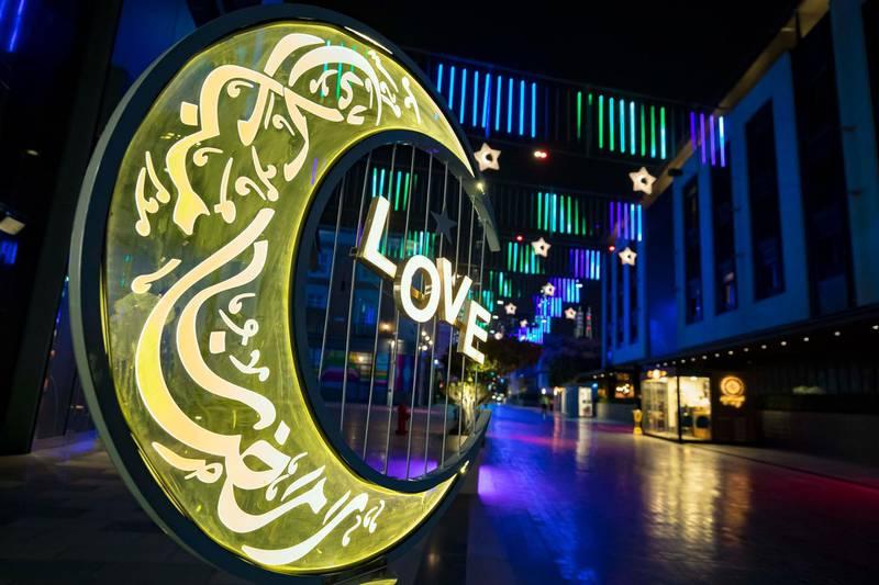 Dubai, United Arab Emirates - Reporter: N/A. News. Ramadan decorations at City Walk in Dubai. Wednesday, April 14th, 2021. Dubai. Chris Whiteoak / The National