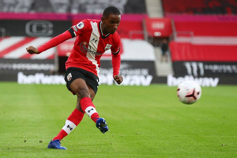 Oct 25, 2020; Southhampton, England, UK;  Southampton's Ibrahima Diallo during an English Premier League match at St. Mary's Stadium.  Mandatory Credit: Stuart Martin-USA TODAY NETWORK/Reuters