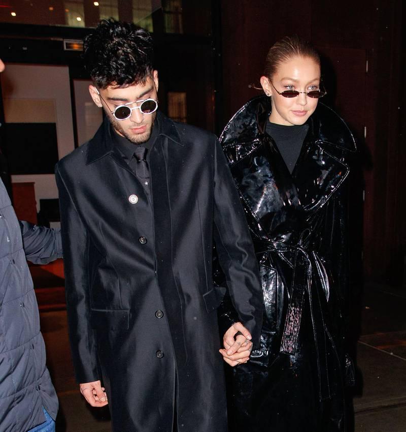 NEW YORK, NY - JANUARY 12:  Zayn Malik and Gigi Hadid seen on January 12, 2018 in New York City.  (Photo by Gotham/GC Images)
