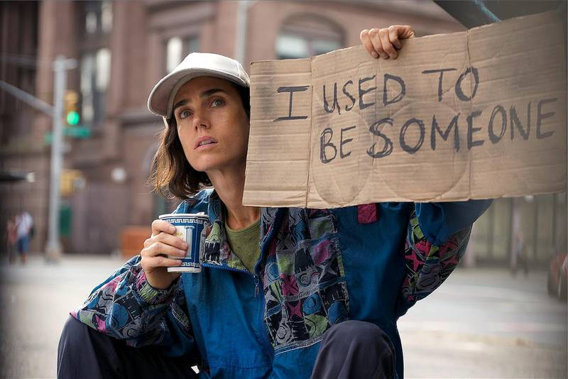 Jennifer Connolly in a scene from Shelter, 2014, DIFF, directed by her husband Paul Bettany and co-starring Anthony Mackie. PLOT: Hannah and Tahir fall in love while homeless on the streets of New York. Shelter explores how they got there. CREDIT: Courtesy Bifrost Pictures