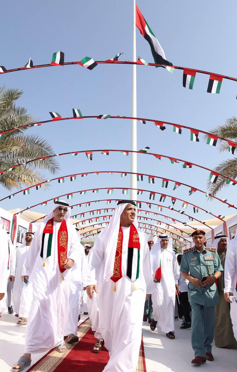 RAS AL-KHAIMAH, 2nd November, 2017 (WAM) -- H.H. Sheikh Saud bin Saqr Al Qasimi, Supreme Council Member and Ruler of Ras al-Khaimah, has said that the Flag Day celebrations represent a symbol of national unity, identity and belonging among all the people of the country. WAM