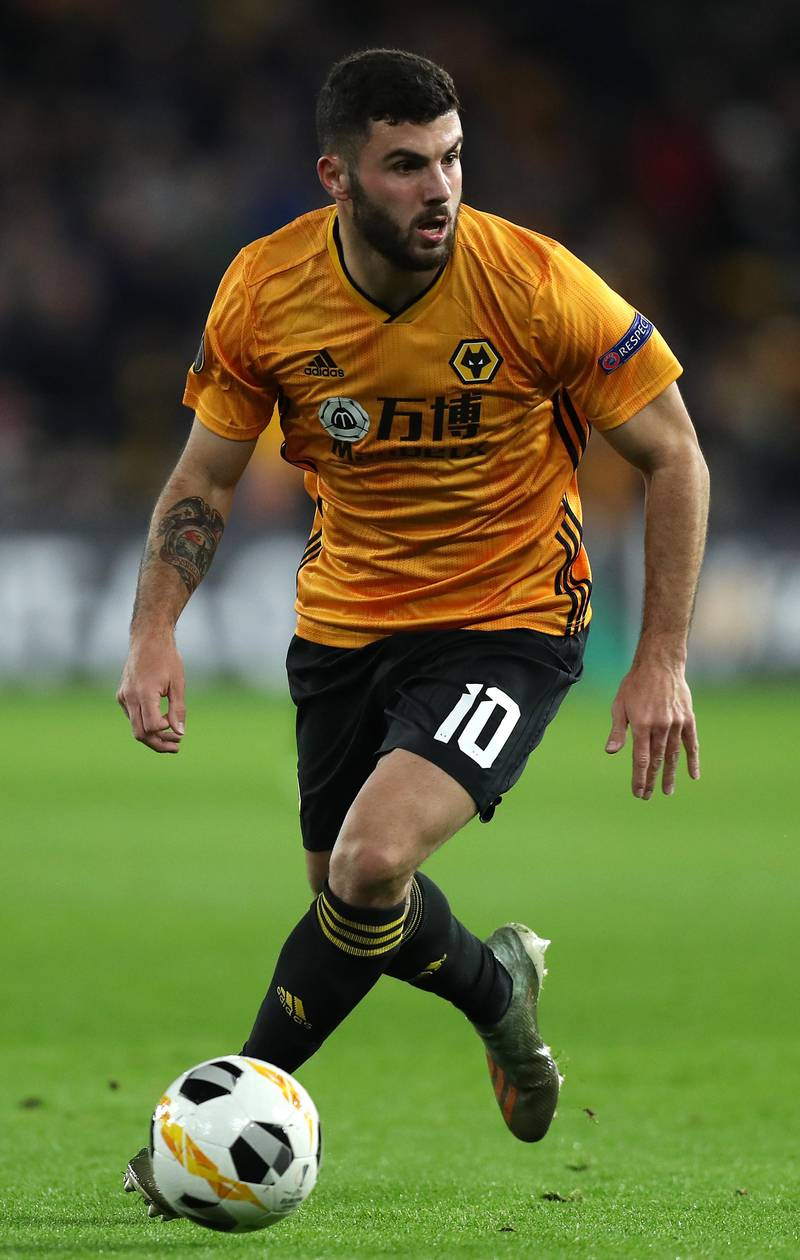 WOLVERHAMPTON, ENGLAND - DECEMBER 12:  Patrick Cutrone of Wolverhampton Wanderers runs with the ball during the UEFA Europa League group K match between Wolverhampton Wanderers and Besiktas at Molineux on December 12, 2019 in Wolverhampton, United Kingdom. (Photo by David Rogers/Getty Images)