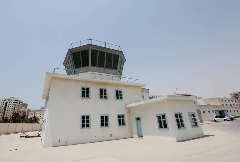 AL SHARJAH - JUNE 20,2010 - The old Sharjah airport tower at Al Mahatta Museum in Sharjah. ( Paulo Vecina/The National )