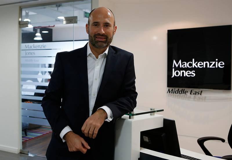 DUBAI - UNITED ARAB EMIRATES - 28FEB2017 - David Mackenzie, the CEO of Mackenzie Jones at his office in Dubai. Ravindranath K / The National ID: 54117 ( to go Jessica Hill for Business) *** Local Caption ***  RK2802-Mackenzie07.jpg