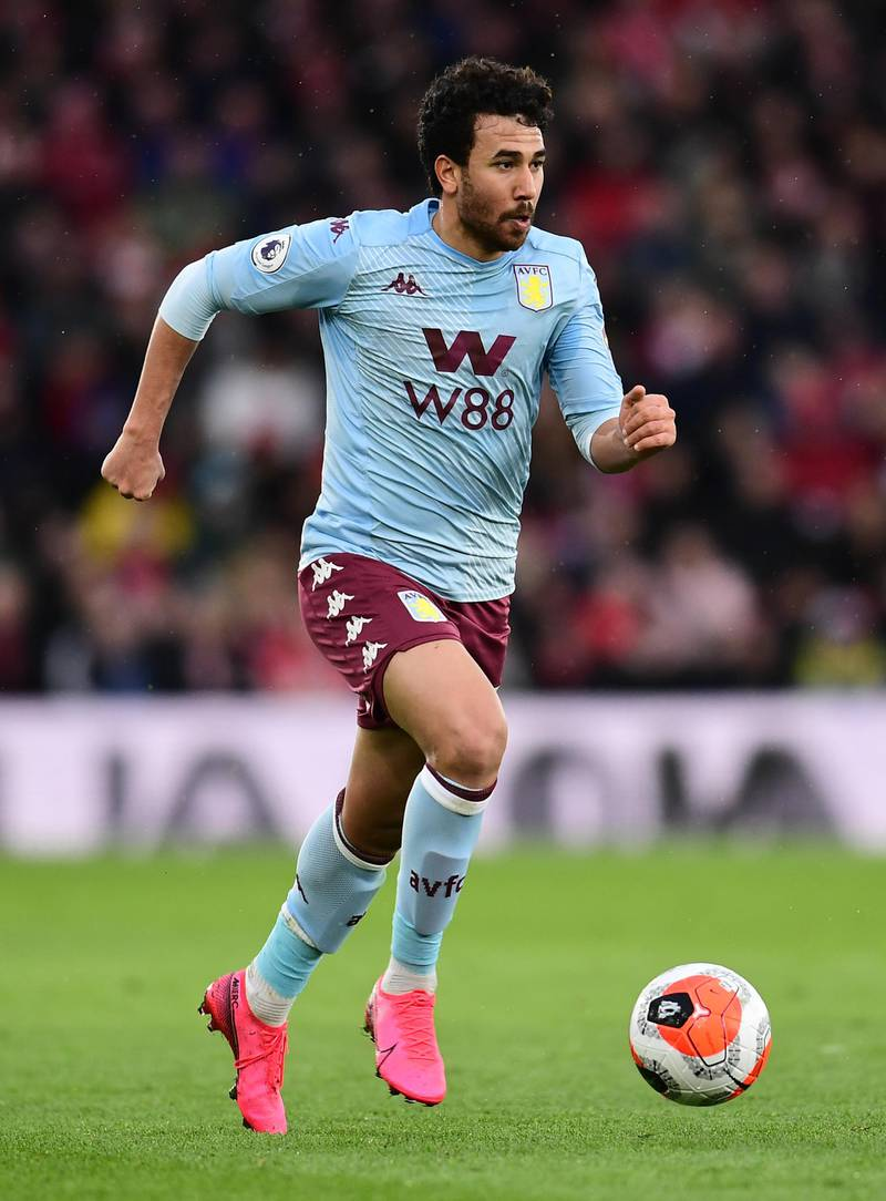 SOUTHAMPTON, ENGLAND - FEBRUARY 22: Trezeguet of Aston Villa in action during the Premier League match between Southampton FC and Aston Villa at St Mary's Stadium on February 22, 2020 in Southampton, United Kingdom. (Photo by Alex Broadway/Getty Images)
