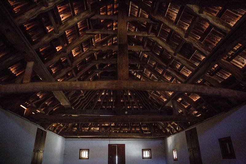 The roof tiles of Thottungal Juma Masjid in Ponnani, Kerala, India. Photo by Sebastian Castelier