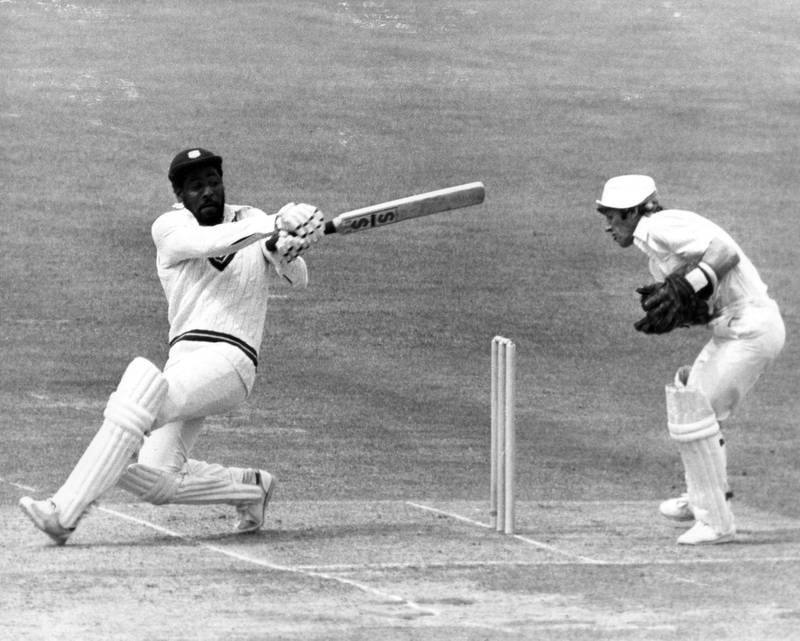 23 Jun 1979:  Viv Richards of the West Indies at bat against England during the Prudential World Cup at Lords in England.  Richards finished at 138 not out and retained the cup by deafeating England by 92 runs. Mandatory Credit: Allsport Hulton/Archive / Getty Images