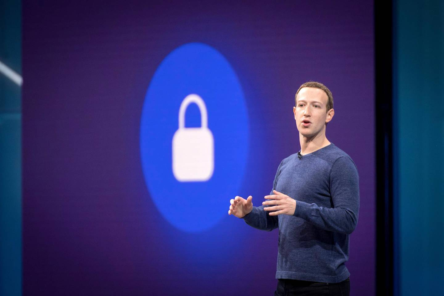 Mark Zuckerberg, chief executive officer and founder of Facebook Inc., speaks during the F8 Developers Conference in San Jose, California, U.S., on Tuesday, May 1, 2018. Zuckerbergsaid that he learned, while testifying in front ofCongresslast month, that he didn't have clear enough answers to questions about data and Facebook should offer users this kind of option to control their information. Photographer: David Paul Morris/Bloomberg