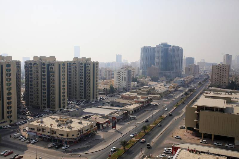 AJMAN, UAE. August 4, 2014 -  Stock photograph of towers in Ajman, August 4, 2014. (Photos by: Sarah Dea/The National, Story by: Standalone, Stock)