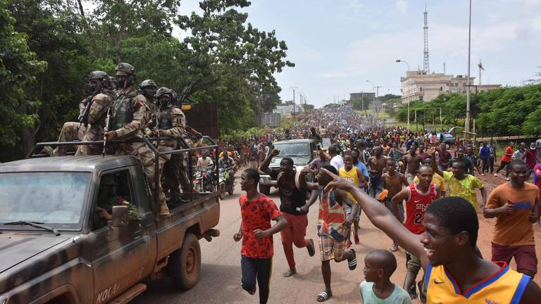 An image that illustrates this article Guinea: US condemns Conakry coup as military imposes nationwide curfew