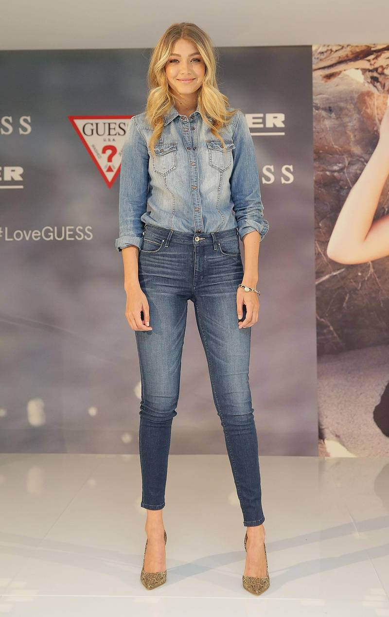 SYDNEY, AUSTRALIA - AUGUST 04:  Model Gigi Hadid poses at Myer Macquarie Centre on August 4, 2015 in Sydney, Australia.  (Photo by Mark Metcalfe/Getty Images)