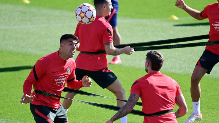 An image that illustrates this article Suarez and Griezmann train with Atletico ahead of Milan clash