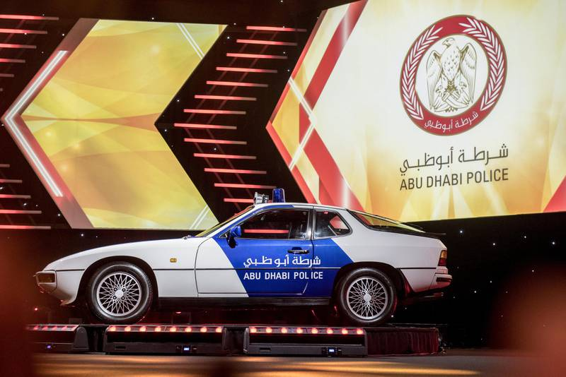 Abu Dhabi, UAE: Abu Dhabi Police unveils new patrol with new emblem at the Armed Forces Officers Club in Abu Dhabi,UAE, on 17 September 2017, Vidhyaa for The National