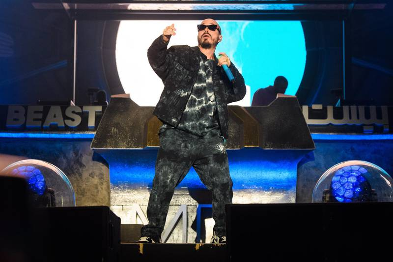 J Balvin during MDL Beast, a three-day festival in Riyadh, Saudi Arabia, bringing together the best in music, performing arts and culture.