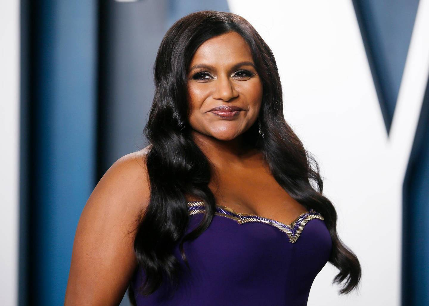 Mindy Kaling attends the Vanity Fair Oscar party in Beverly Hills during the 92nd Academy Awards, in Los Angeles, California, U.S., February 9, 2020.     REUTERS/Danny Moloshok