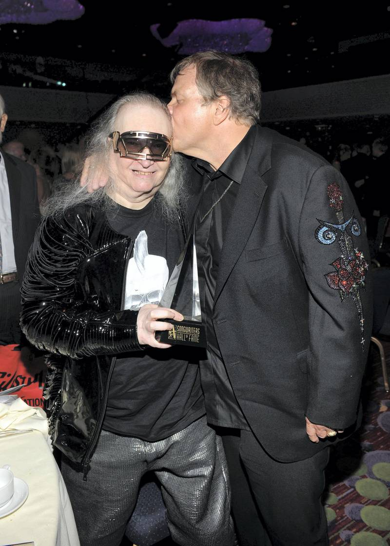 NEW YORK, NY - JUNE 14:  Jim Steinman and Meat Loaf attend at the Songwriters Hall of Fame 43rd Annual induction and awards at The New York Marriott Marquis on June 14, 2012 in New York City.  (Photo by Larry Busacca/Getty Images for Songwriters Hall Of Fame)