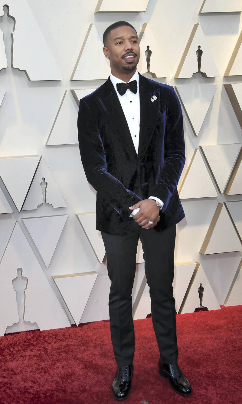 HOLLYWOOD, CA - FEBRUARY 24: Michael B. Jordan attends the 91st Annual Academy Awards at Hollywood and Highland on February 24, 2019 in Hollywood, California. (Photo by Dan MacMedan/Getty Images)