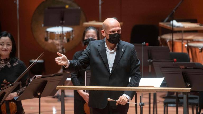 An image that illustrates this article New York Philharmonic marks 'homecoming' after pandemic cancellations