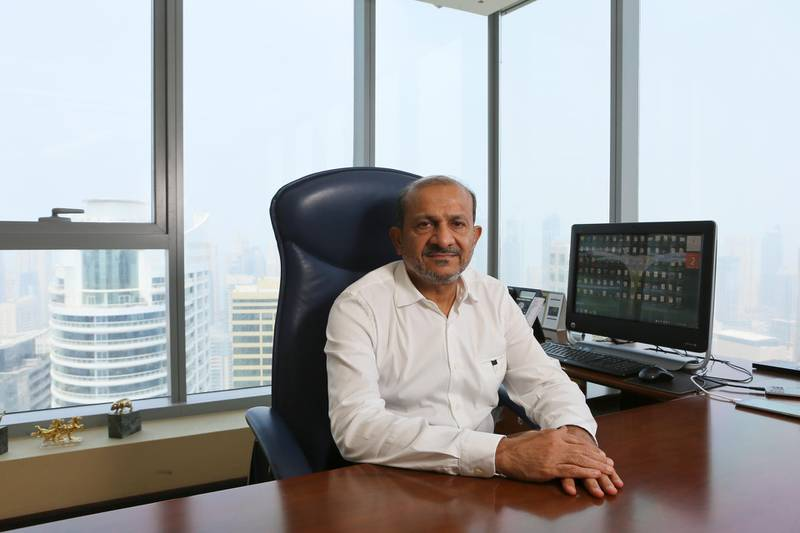 Dubai, UAE. September 2, 2015 - Dr. Firoz Merchant, CEO and owner of Pure Gold, is photographed in his JLT office in Dubai, September 2, 2015. (Photo by: Sarah Dea/The National, Story by:  Amna Shahid/News) *** Local Caption ***  SDEA020915-firoz_merchant08.JPG
