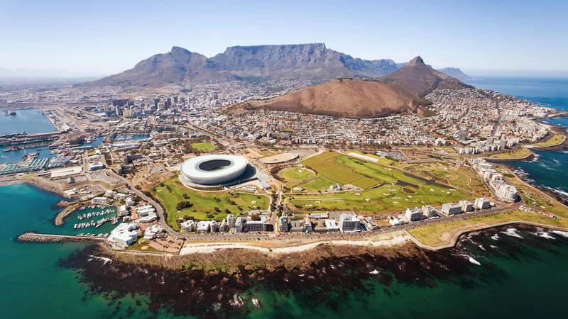 overall aerial view of Cape Town. Getty Images