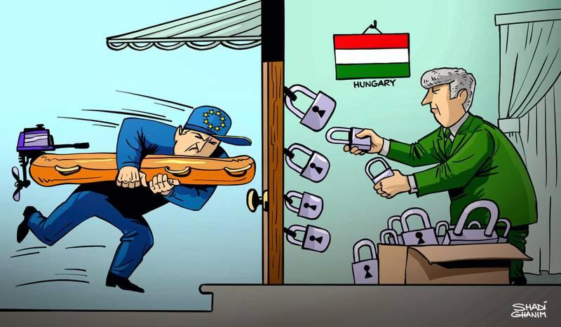 Editorial cartoon for July 22, 2018 by Shadi Ghanim