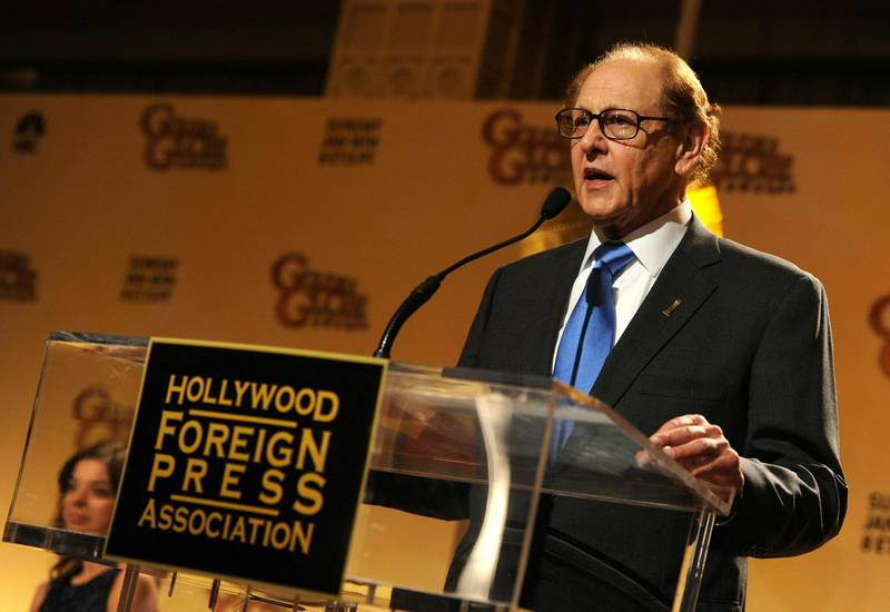 BEVERLY HILLS, CA - DECEMBER 14: Hollywood Foreign Press Association president Philip Berk speaks onstage during the 68th Annual Golden Globe Awards nomination announcement held at the Beverly Hilton Hotel on December 14, 2010 in Beverly Hills, California.   Kevin Winter/Getty Images/AFP (Photo by KEVIN WINTER / GETTY IMAGES NORTH AMERICA / Getty Images via AFP)