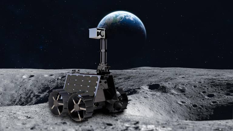 An image that illustrates this article Lander to take UAE rover to Moon is in final stages of assembly