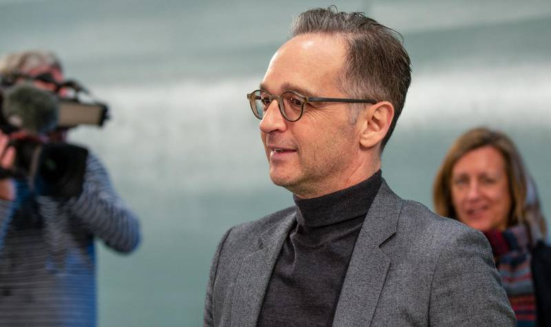 BERLIN, GERMANY - APRIL 01:  Heiko Maas, Federal Minister for Foreign Affairs attends the weekly government cabinet meeting during the coronavirus crisis on April 1, 2020 in Berlin, Germany. Germany has so far registered over 68,000 cases of Covid-19 infection and 721 people have died. (Photo by Andreas Gora - Pool/Getty Images)