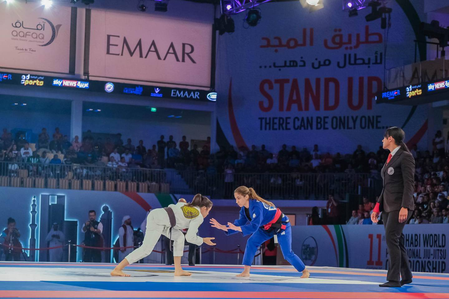he 12th edition of the Abu Dhabi World Professional Jiu-Jitsu Championship (ADWPJJC) will be held under the patronage of His Highness Sheikh Mohamed Bin Zayed Al Nahyan, Crown Prince of Abu Dhabi and Deputy Supreme Commander of the UAE Armed Forces, from April 6-9 at Abu Dhabi's Jiu-Jitsu Arena.