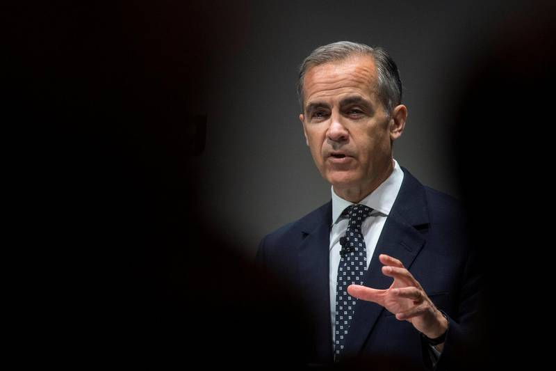Bank of England Governor Mark Carney speaks during the Bank of England Markets Forum 2018, at Bloomberg, in central London, Britain, May 24, 2018. Victoria Jones/Pool via REUTERS