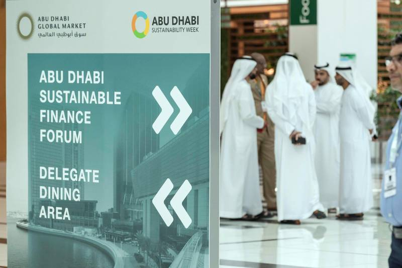 ABU DHABI, UNITED ARAB EMIRATES. 16 JANUARY 2019. General show room floor image for WFES as part of the Abu Dhabi Sustainability Week. (Photo: Antonie Robertson/The National) Journalist: Sarmad Khan. Section: Business.