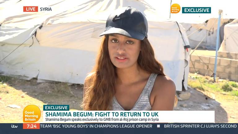 An image that illustrates this article ISIS sympathiser Shamima Begum makes TV plea for forgiveness from British public