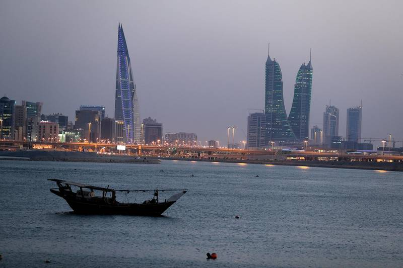 FILE PHOTO: General view of Bahrain's financial district in Manama, Bahrain, June 20, 2019. REUTERS/ Hamad I Mohammed/File Photo