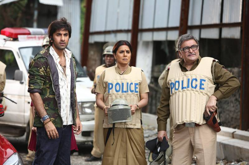 From left: Ranbir Kapoor, with his acting parents Neetu Kapora and Rishi Kapoor on the set of Besharam, 2013CREDIT: Courtesy Movie Temple Productions *** Local Caption ***  IMG_4574.jpg