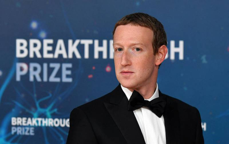 Facebook CEO Mark Zuckerberg arrives for the 8th annual Breakthrough Prize awards ceremony at NASA Ames Research Center in Mountain View, California on November 3, 2019. (Photo by JOSH EDELSON / AFP)