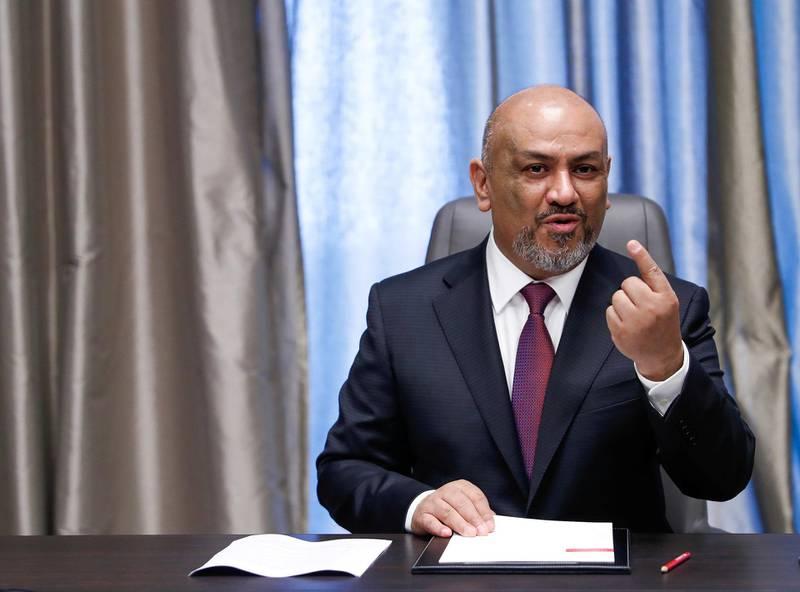 Abu Dhabi, U.A.E., July 24, 2018.  Interview with Yemeni Foreign Minister, Khaled Alyemany.Victor Besa / The NationalSection:  NAReporter:  Naser Al Wasmi
